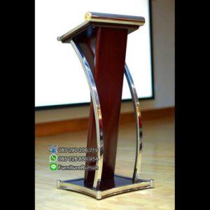 Podium Minimalis Modern Kombinasi Stainless