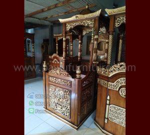 Jual Mimbar Masjid Ukiran Atap Kubah