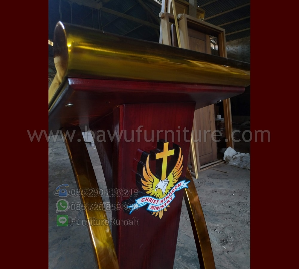 Motif Mimbar Stainless Gold Cocok untuk jamaat Kristiani