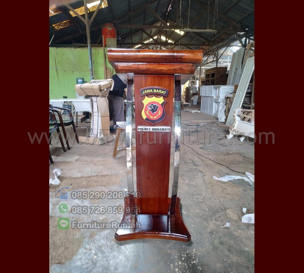 Detail Mimbar Ceramah Polres Indramayu Jawa Barat