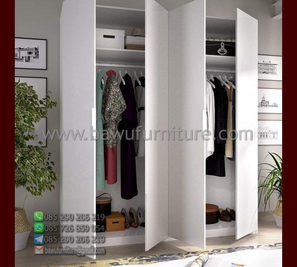 Lemari Pakaian 4 Pintu Minimalis Model Dalam