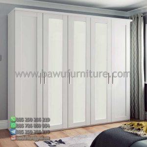 Lemati Pakaian 5 Pintu Putih