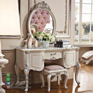 Meja Rias Ukir Putih