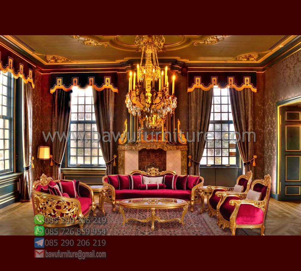 Sofa Tamu Mewah Gold