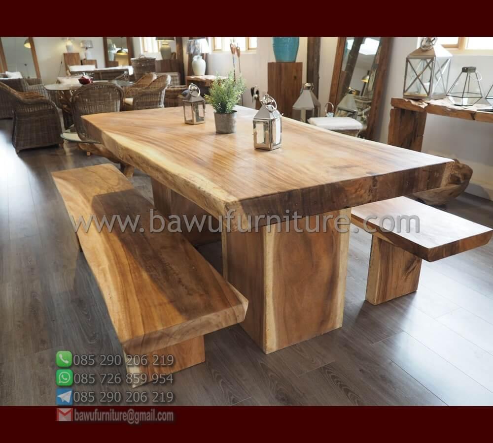 Jual Meja Makan Kayu Suar Model Minimalis Terbaru Bawu Furniture