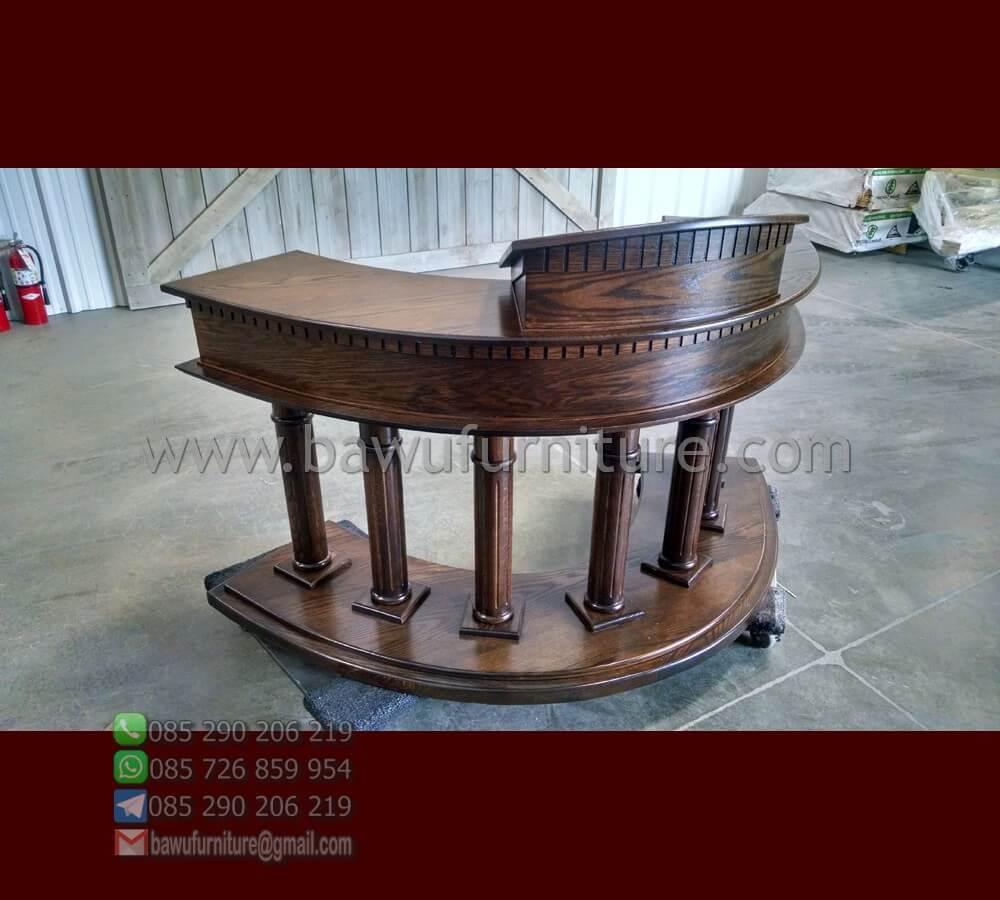 Jual Mimbar Gereja Jati Klasik