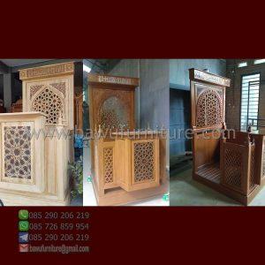 Mimbar Masjid Jati Minimalis