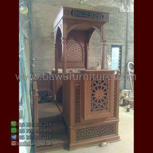 Mimbar Masjid Ornamen Arabic