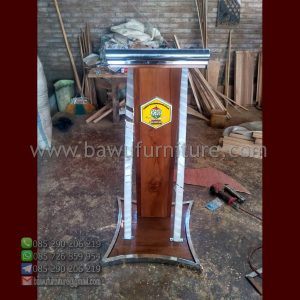Podium Jati Dan Stainless