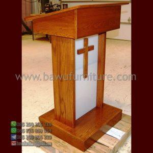 Podium Gereja Kayu Modern