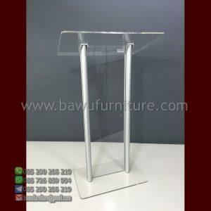 Podium Pidato Akrilik Aluminium