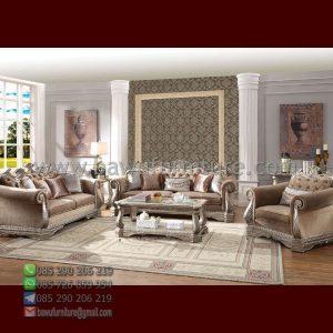 Sofa Tamu Mewah Silver