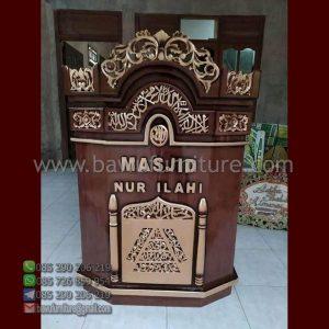 Mimbar Masjid Nur Ilahi