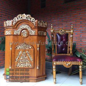 Mimbar Masjid Ukir Kayu Jati
