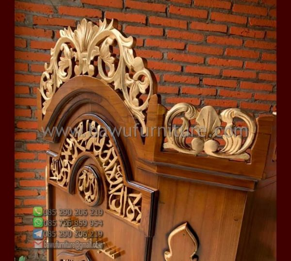 Mimbar Masjid Ukir Terbaru