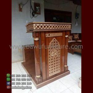 Mimbar Minimalis Masjid Al Mukarromah