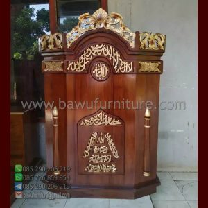 Mimbar Masjid Ukir Malang