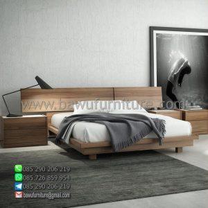 Tempat Tidur Kayu Minimalis